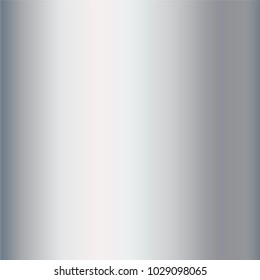 Realistic silver foil texture background. Gray vector elegant, shiny and metal gradient template for border, frame, ribbon design