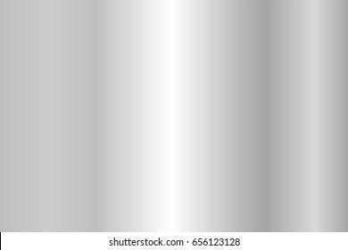 Realistic silver texture. Shiny metal foil gradient. Vector illustration
