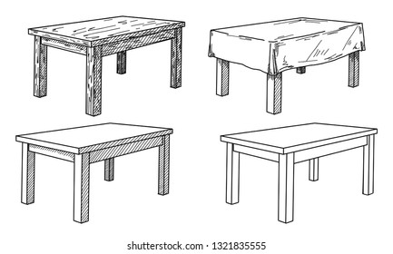 Super Dining Table Line Art Stock Illustrations Images Vectors Download Free Architecture Designs Scobabritishbridgeorg