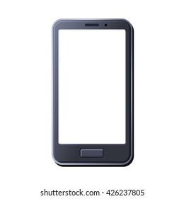 Realistic Smart Phone on White Background. Vector illustration