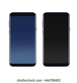 Realistic smartphone mock up. Vector.