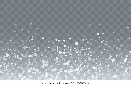 Realistic Snow Background. Illustration for Merry Christmas Design. Glitter White Snow Background. Fantasy  Snowstorm Illustration Design.