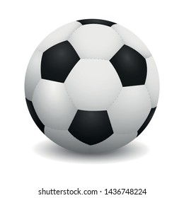 Realistic soccer ball or football ball on white background.