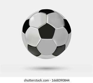 Realistic soccer ball. Vector graphics