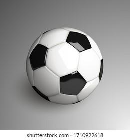 Realistic soccer ball. Vector illustration.