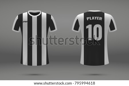 Realistic soccer jersey tshirt