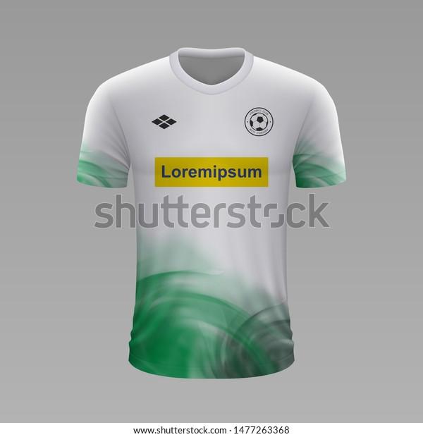 Realistic Soccer Shirt Borussia Monchengladbach 2020 Stock Vector Royalty Free 1477263368