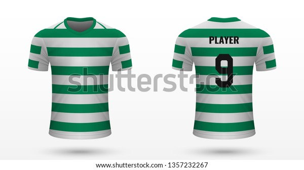 sports shoes 1cd27 441f4 Realistic Soccer Shirt Celtic Jersey Template Stock Vector ...
