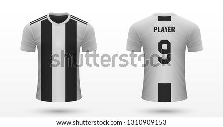 Realistic soccer shirt Juventus