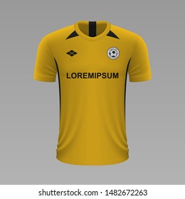 Realistic soccer shirt Young Boys 2020, jersey template for football kit