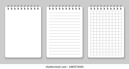 Realistic spiral notebook mockup, template copybook cover