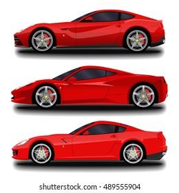 realistic sport car set.