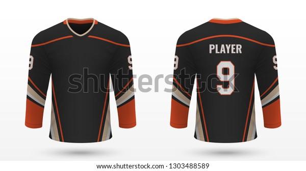 on sale 5c246 19b12 Realistic Sport Shirt Anaheim Ducks Jersey Stock Vector ...
