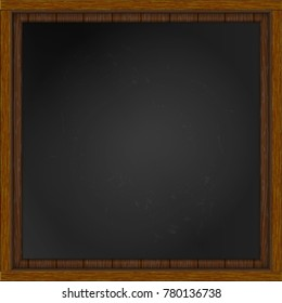 Realistic square empty picture frame. Blank white picture frame mockup template isolated.