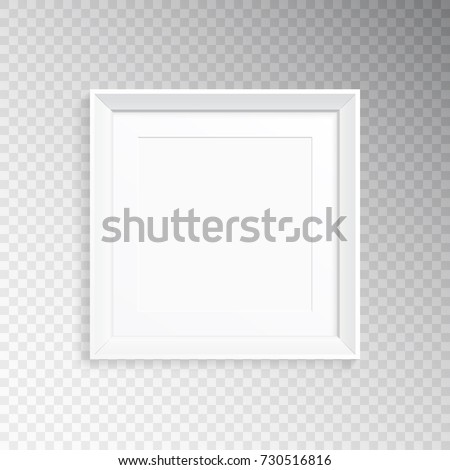 Realistic Square Frame Mat Photography Painting Stock Vector