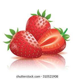 Realistic strawberry illustration