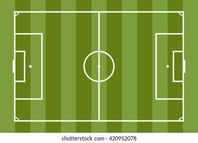 Flat soccer green field football grass stock vector royalty free realistic striped textured grass football background trendy soccer field template for your design vector maxwellsz