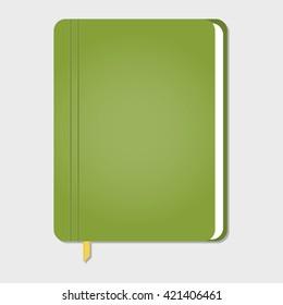 realistic stylish notebook, vector illustration