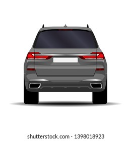realistic SUV car. side view