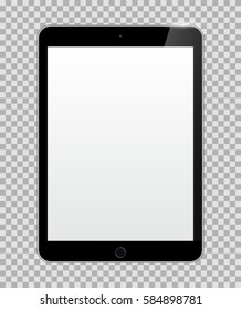 Realistic Tablet with Blank or Empty Screen Isolated on Transparent Background. Can Use for Template, Project, Presentation or Banner. Electronic Gadgets, Device Set Mock Up. Vector Illustration