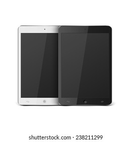 Realistic Tablet PC With Blank Screen.vector