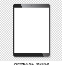 realistic tablet blank empty screen isolated stock vector royalty