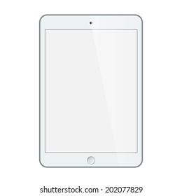 Realistic tablet, white tablet with blank screen, tablet isolated on white, tablet icon, tablet concept, mobile tablet, tablet pc, digital tablet, modern tablet, tablet object, tablet web Vector EPS10