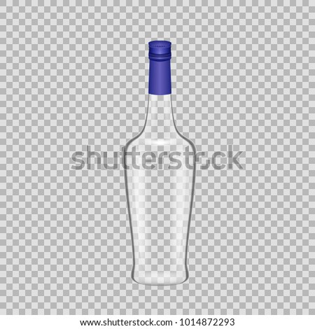 realistic template empty glass liquor bottle stock vector royalty
