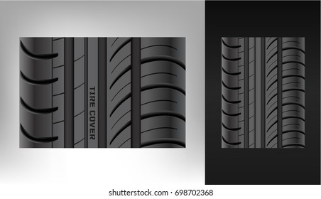 A realistic texture of the tire. Duplicate. A trace from the wheel. Rubber.