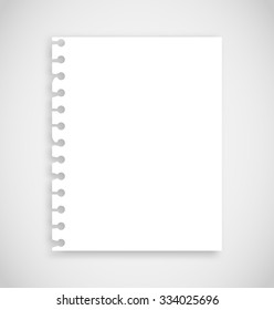 Realistic torn notebook paper vector