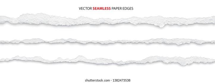 realistic torn paper edges, vector illustration