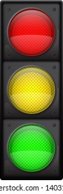 Realistic traffic lights, Isolated on white, EPS10 vector