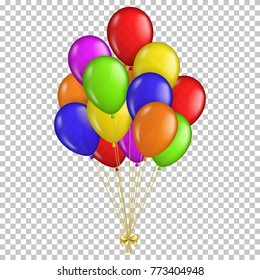 Realistic transparent balloons, isolated.