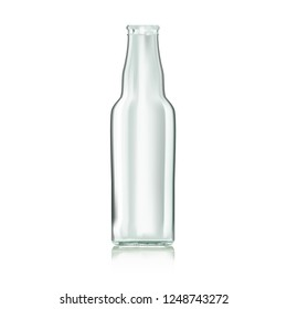 Realistic Transparent Clear Water Empty Bottle Isolated. EPS10 Vector