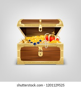 Realistic Treasure Chest Composition