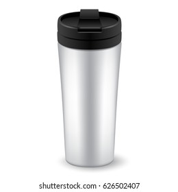 Realistic Tumbler Glass on White Background : Vector Illustration