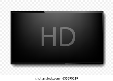 Realistic TV screen. Vector illustration