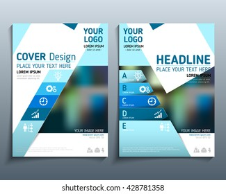 Realistic vector. Brochure annual report, brochure design, business infographics. Modern style