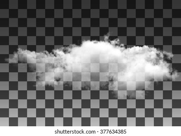 Realistic vector cloud on transparent background