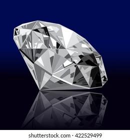 realistic vector diamond