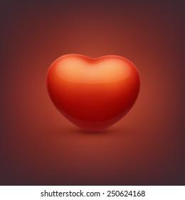 Realistic vector heart.