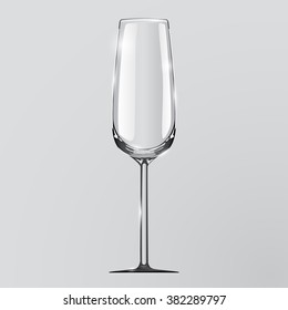 Realistic vector illustration of a champagne glass