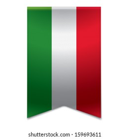 Realistic vector illustraton of a ribbon banner with the hungarian flag. Could be used for travel or tourism purpose to the country hungary in europe.