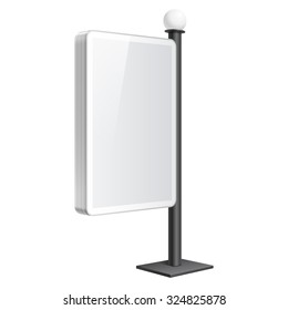 Realistic vector light box. Advertising Stand template on white background