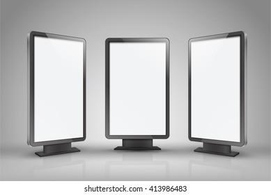 Realistic vector light box template vector design