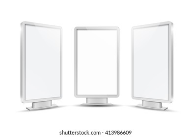Realistic vector light box template vector design
