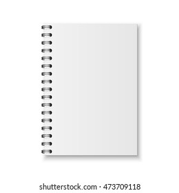 Realistic vector notebook