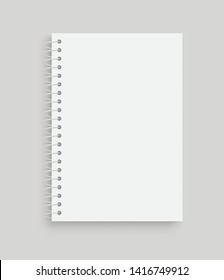 Realistic vector notebook. Front view. - stock vector.
