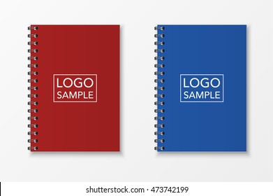 Realistic vector notebook set