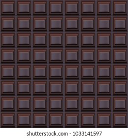Realistic Vector Pattern of Chocolate Tile.